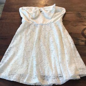 Lulu's White Strapless Dress